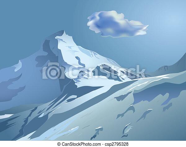 snowy mountains - csp2795328