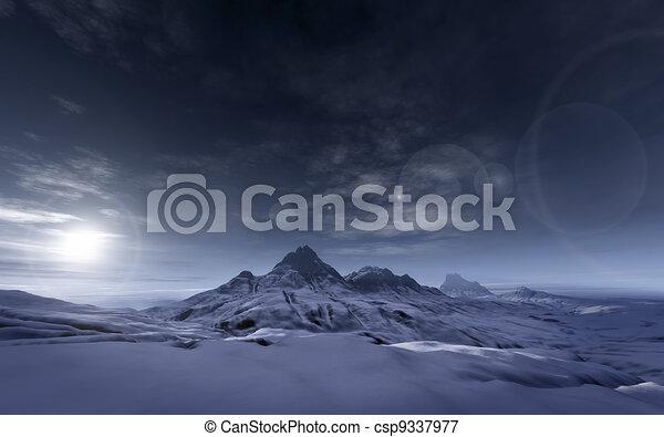 snowy mountains - csp9337977