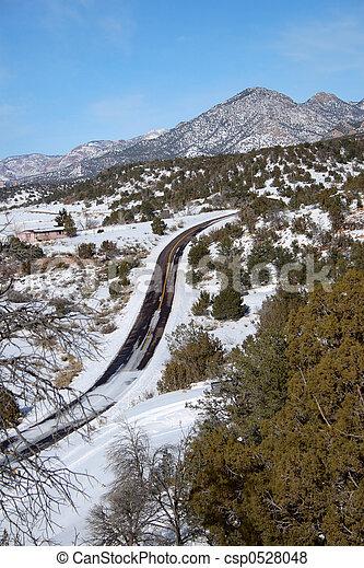 Snowy Road - csp0528048