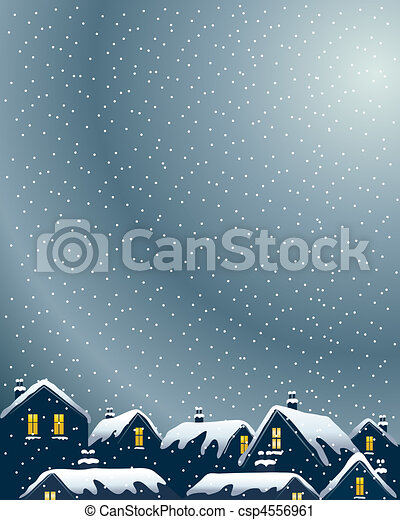 snowy rooftops - csp4556961