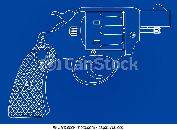 Snub nose 45 blueprint a snub nose handgun as used by vector snub nose 45 blueprint csp33768228 malvernweather Images