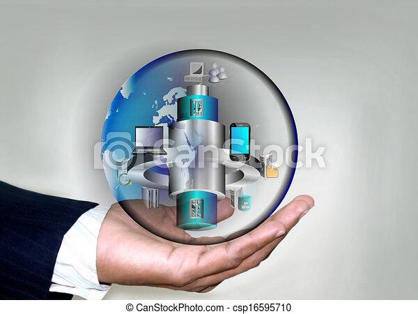 soa, homens, negócio, aplicação, móvel, esb, global, distributed, integração, mão, aplicações, legado, vário, empresa - csp16595710