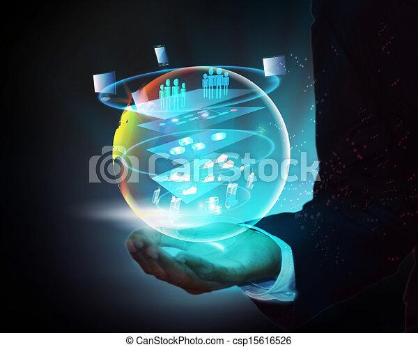 soa, representa, emergir, negócio, serviço, este, global, endereçando, ilustração, necessidades, oriented, como, layered, arquitetura, mãos, tecnologia, agilidade - csp15616526