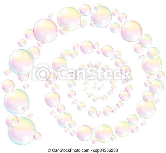 Soap Bubbles Spiral - csp34366233