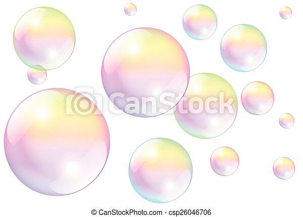 Soap Bubbles White - csp26046706