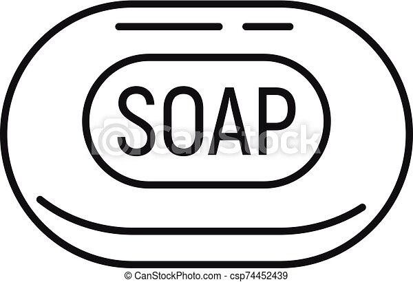 soap icon outline style soap icon outline soap vector icon for web design isolated on white background https www canstockphoto com soap icon outline style 74452439 html