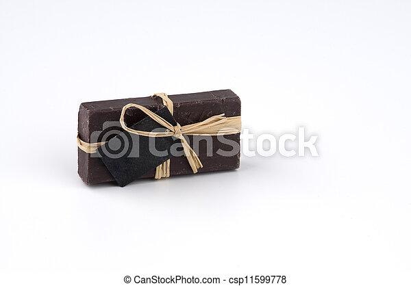 Soap with empty label - csp11599778
