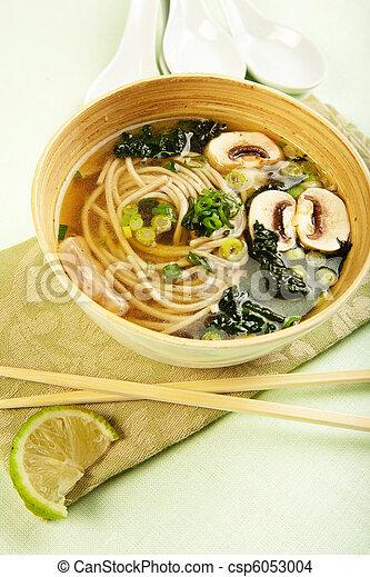Soba Noodle and Kale Soup - csp6053004