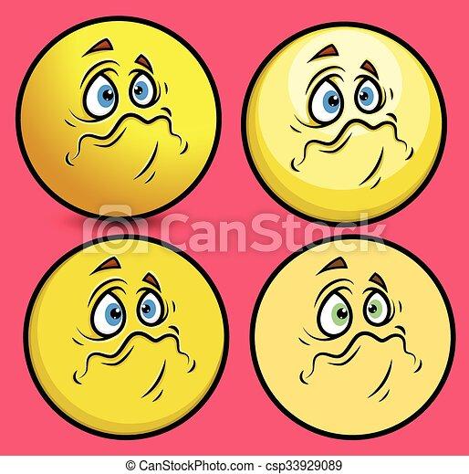 Sobbed Face Smiley Face - csp33929089