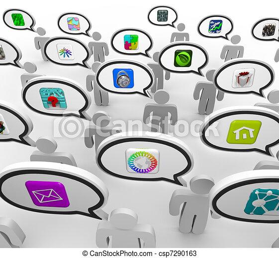 La gente habla de artículos sobre solicitudes favoritas - csp7290163