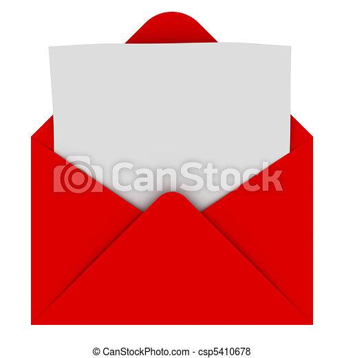 sobre, carta, blanco - csp5410678