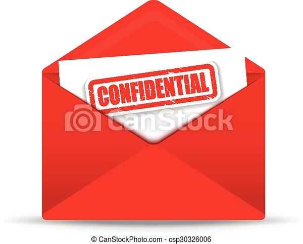 Sobre rojo confidencial - csp30326006