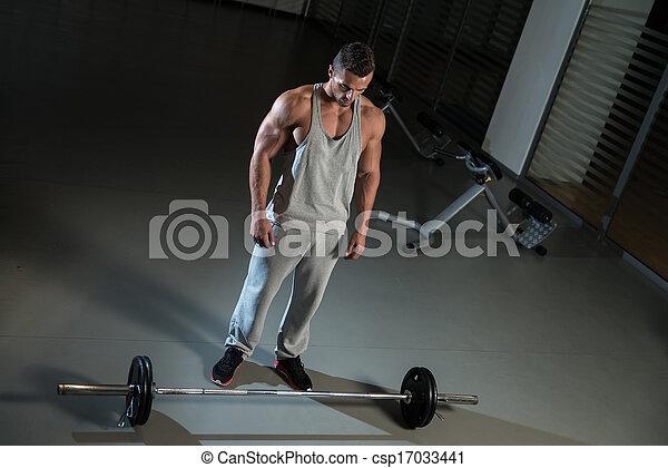 sobre, fila, dobrado, exercício, costas - csp17033441