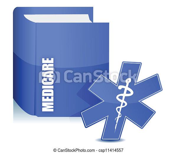 sobre, livro, medicare, ilustração - csp11414557