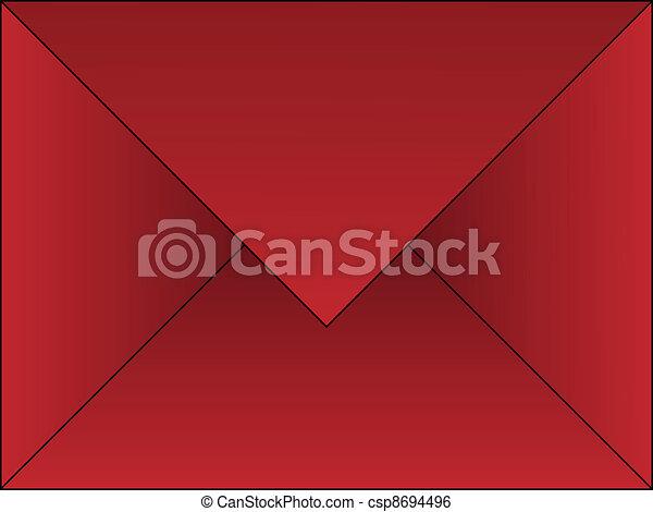 Sobre rojo - csp8694496