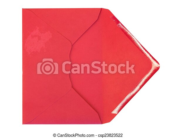 Sobre rojo - csp23823522