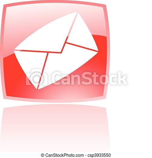 Sobre rojo - csp3933550
