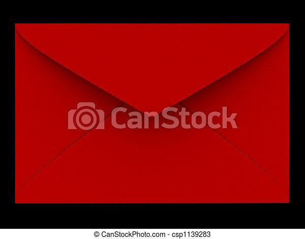 Sobre rojo - csp1139283