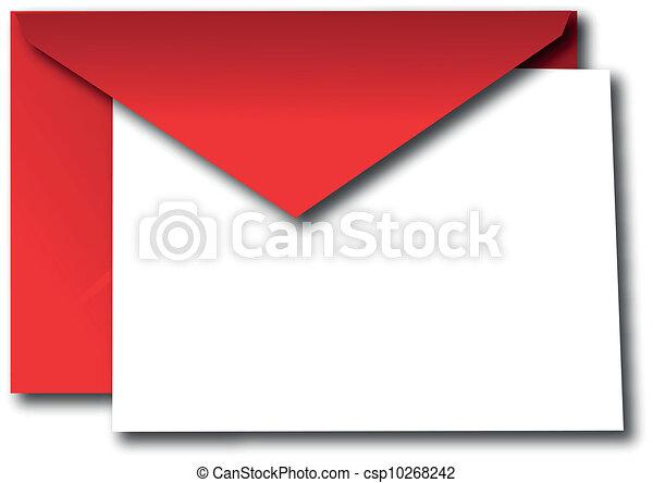 Sobre rojo - csp10268242