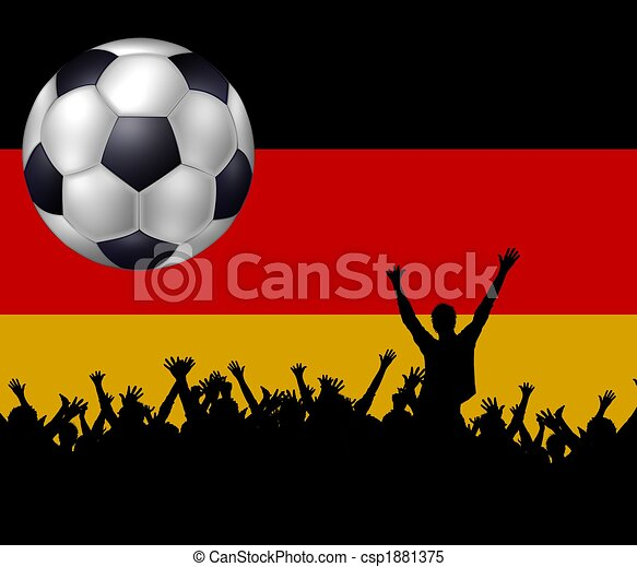 soccer background germany - csp1881375