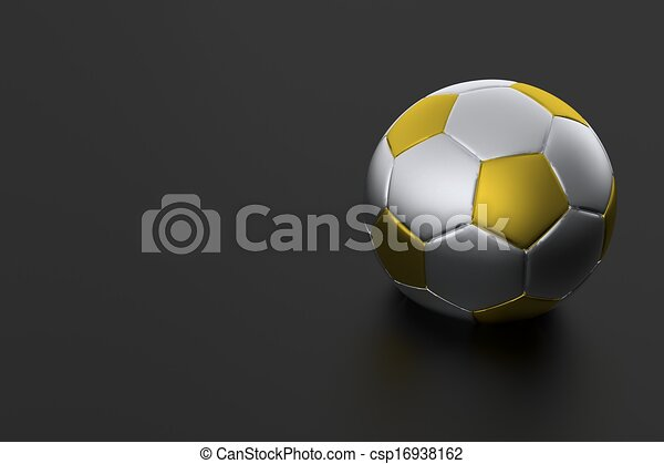 cool dark soccer background with solver gold soccer ball euro