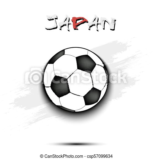 Soccer ball and Japan flag - csp57099634