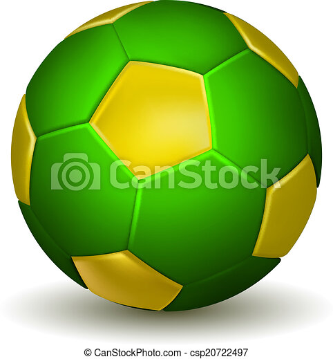 c848c4bca Soccer ball. Brazil soccer ball isolated on white background. vector ...