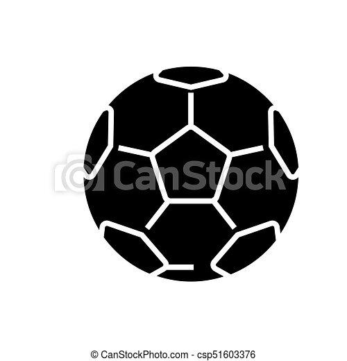 Soccer Ball Football Icon Vector Illustration Black Sign On