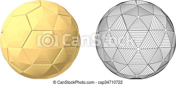 soccer ball gold - csp34710722