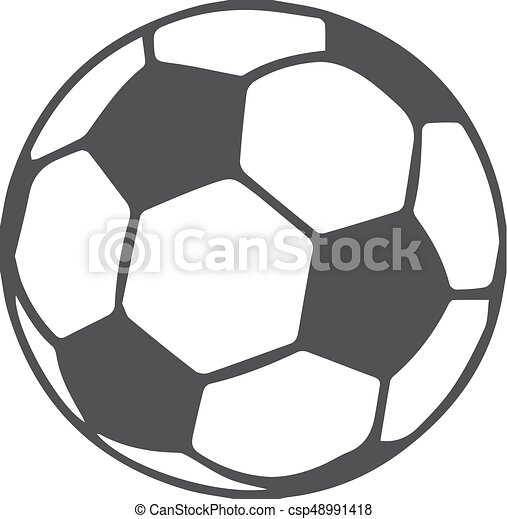 soccer ball icon in black on a white background. vector illustration. |  canstock  can stock photo