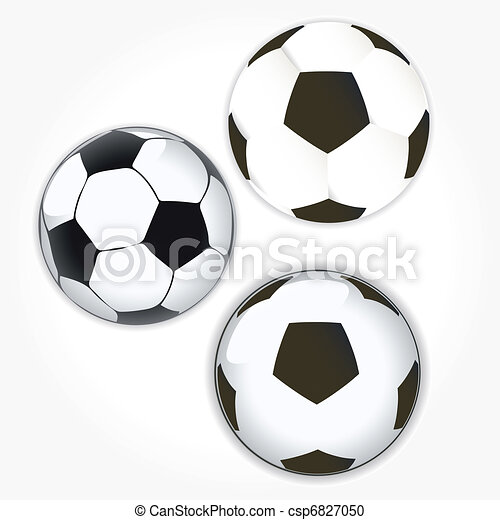 soccer ball icon set. Football - csp6827050