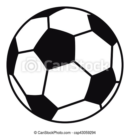 soccer ball icon simple style soccer ball icon simple rh canstockphoto com soccer ball vector drawing soccer ball vector logo