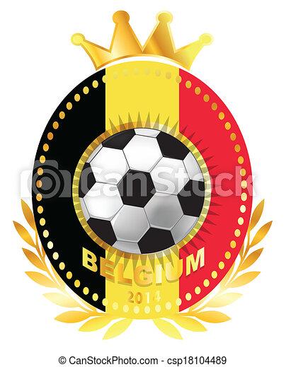 Soccer ball on Belgium flag - csp18104489