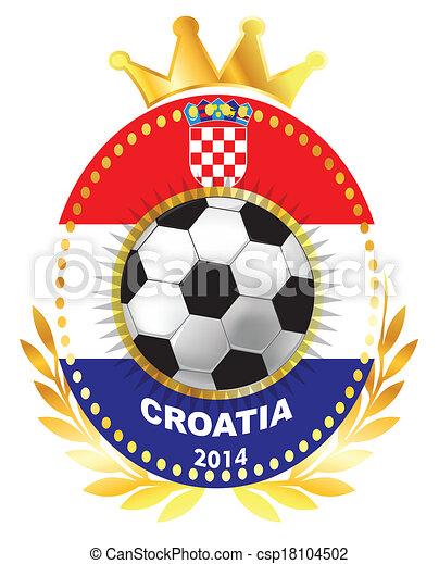 Soccer ball on Croatia flag - csp18104502