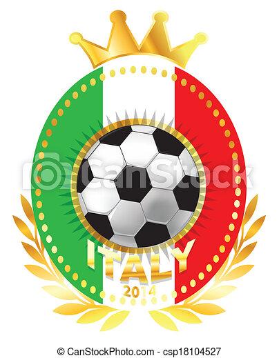 Soccer ball on Italy flag - csp18104527