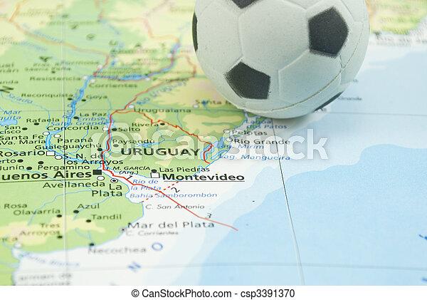soccer ball on map - csp3391370