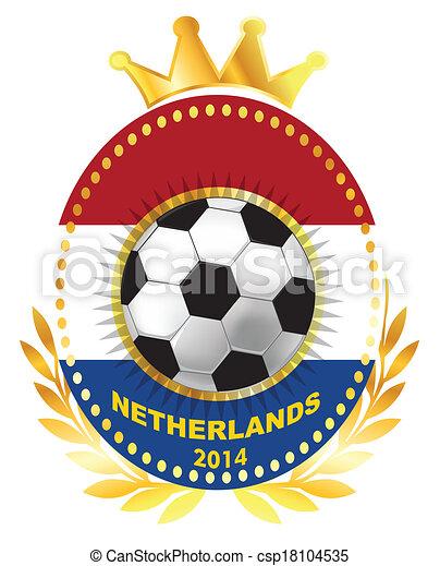 Soccer ball on Netherland flag - csp18104535