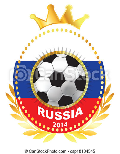 Soccer ball on Russia flag - csp18104545