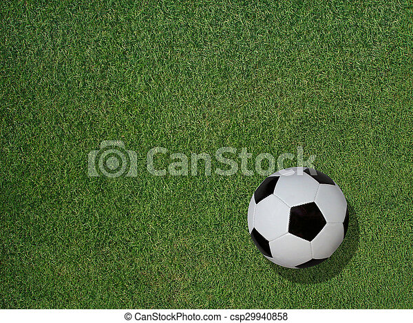 Soccer Ball on Sports Turf Grass - csp29940858