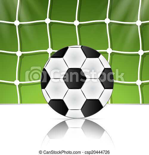 Soccer ball on the background grid. Brazil World Cup football 2014. - csp20444726