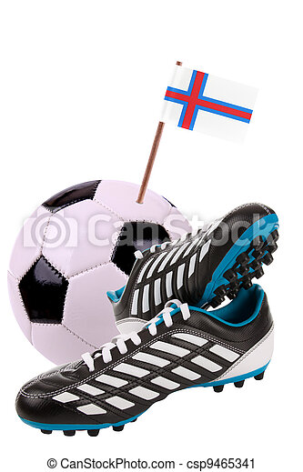 Soccer ball or football with a national flag - csp9465341
