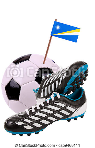 Soccer ball or football with a national flag - csp9466111