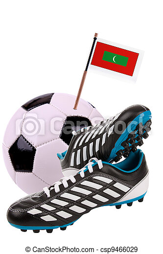 Soccer ball or football with a national flag - csp9466029