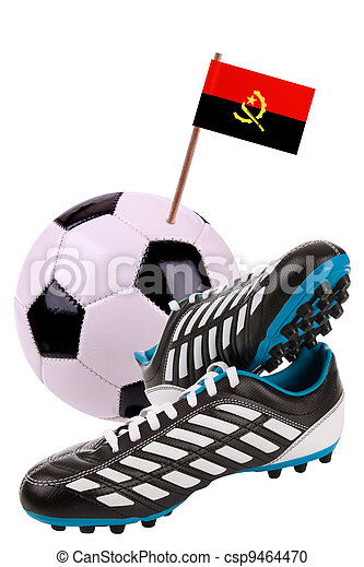 Soccer ball or football with a national flag - csp9464470