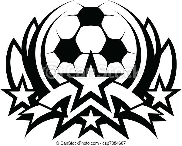 Soccer Ball Vector Graphic Template - csp7384607
