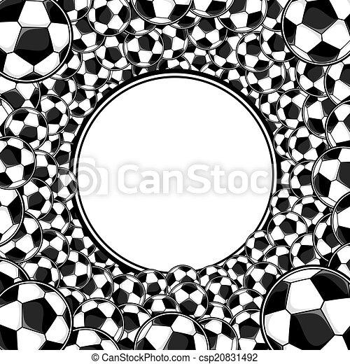 soccer balls frame background - csp20831492