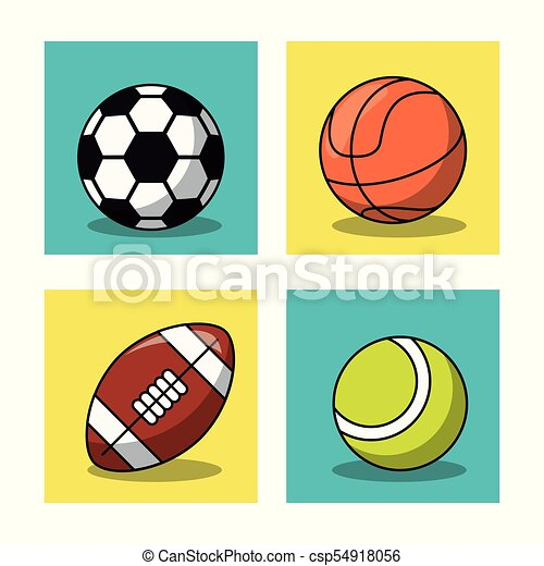 soccer basketball american football and tennis balls white rh canstockphoto com free clipart sports balls clipart pictures sports balls