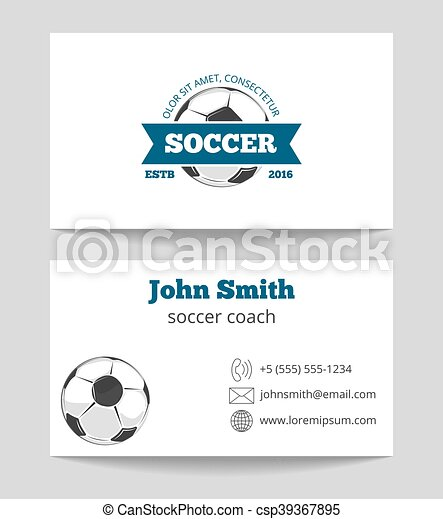 soccer business cards