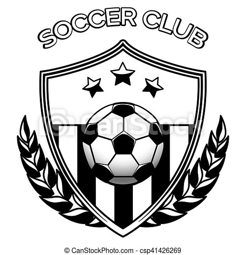 Marvelous Soccer Club Logo On White   Csp41426269