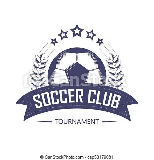 Soccer Club Or Football Team League Logo Template Vector Line